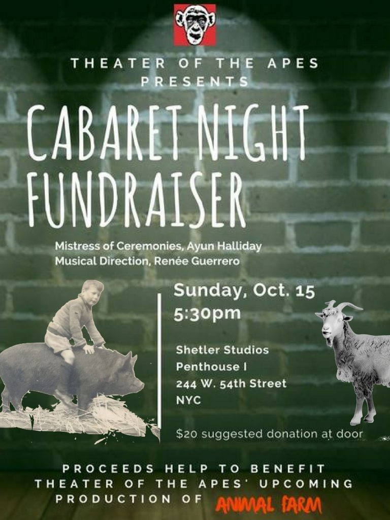 Animal Farm Cabaret Benefit Poster